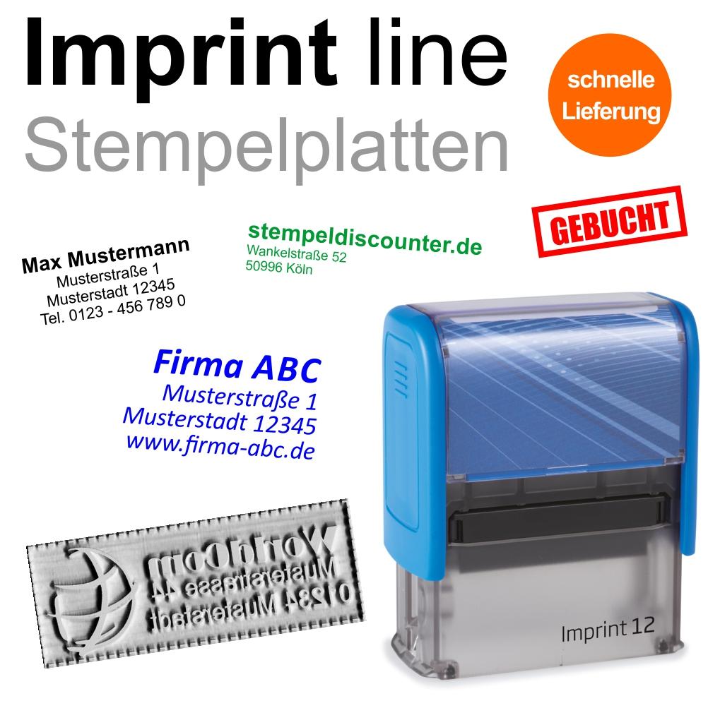 Adressstempel Automatikstempel TRODAT Imprint Logo 12-5 Zeilen Stempel